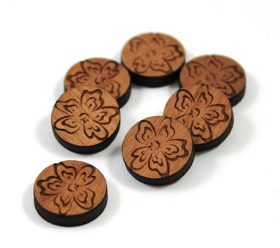 Laser Cut Supplies-8 Pieces. Flower Charms-Acrylic and Wood Laser Cut -Jewellery Supplies- Little Laser Lab Wood and Acrylic Products