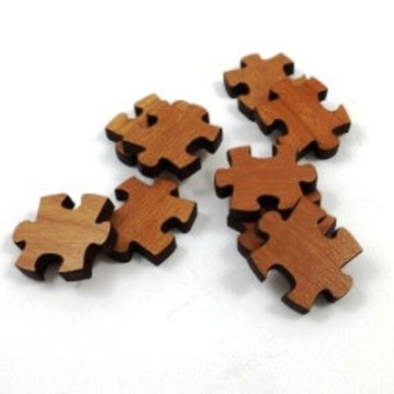 Wood & Acrylic Mini Shapes.8 Pieces.Puzzle Piece  Laser Cut Supplies