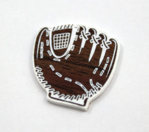 Laser Cut Supplies-1 Piece Base Ball Mitt Charms-Acrylic and Wood Laser Cut-Jewelry Supplies-Little Laser Lab Wood and Acrylic Products