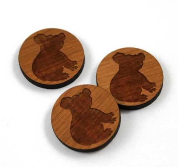 Wood & Acrylic Mini Shapes.8 Pieces. Koala  Laser Cut Supplies