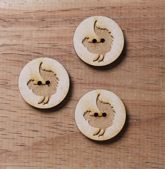 8 pieces.Rooster Farmyard.Round Button,3cm Button-Acrylic and Wood Laser Cut-Jewelry Supplies-Little Laser Lab Wood and Acrylic Products