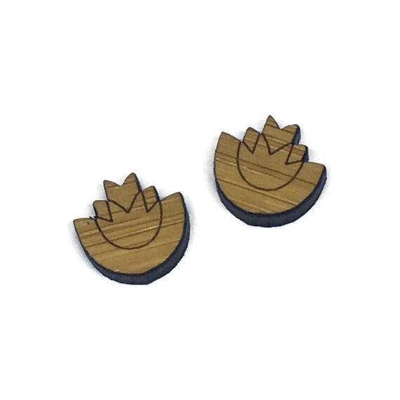 Bamboo Mini Shapes.8 Pieces.Folk Art Flower In A Flower. Laser Cut Supplies
