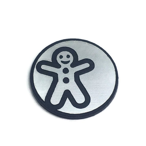 Wood & Acrylic Mini Shapes.8 Pieces.Gingerbread Man Mini  Laser Cut Supplies