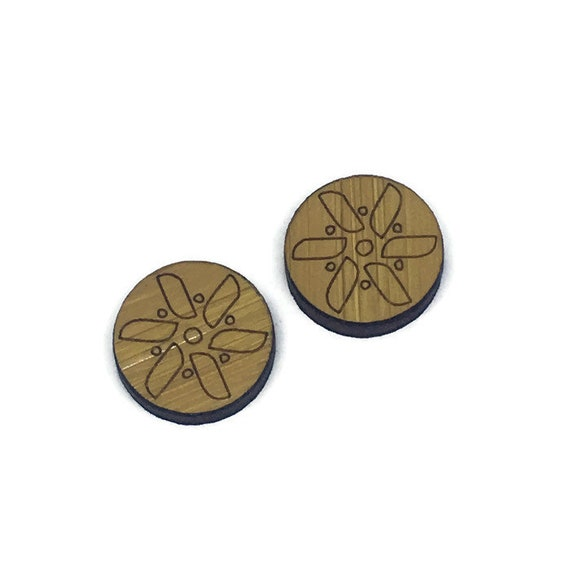 Bamboo Mini Shapes.8 Pieces.Folk Art Pin Wheel. Laser Cut Supplies