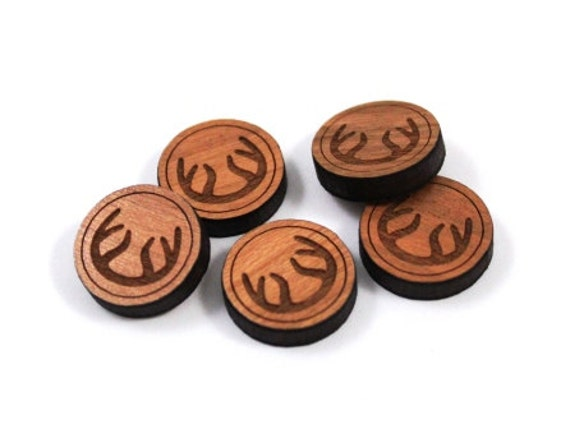 Laser Cut Supplies- 8 Pieces.Antler Charms-Acrylic and Wood Laser Cut-Jewellery Supplies-Little Laser Lab Wood and Acrylic Products