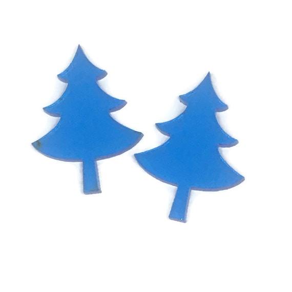 Acrylic Mini Shapes.8 Pieces. Christmas Tree. Mini Laser Cut Supplies