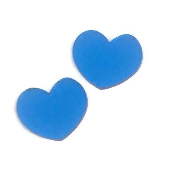 Acrylic Mini Shapes.8 Pieces. Puffy Heart. Mini Laser Cut Supplies