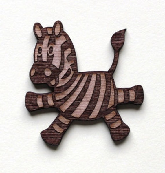 Laser Cut Supplies-1 Piece Cute Zebra Charms-Acrylic and Wood Laser Cut -Jewellery Supplies- Little Laser Lab Wood and Acrylic Products
