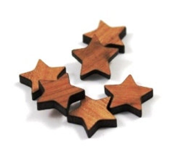 Laser Cut Supplies-8 Pieces.Star Charms-Acrylic and Wood Laser Cut-Jewellery Supplies- Little Laser Lab Wood and Acrylic Products