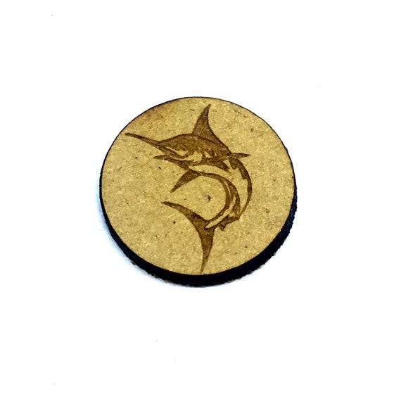 Wood & Acrylic Mini Shapes.8 Pieces.  Marlin Mini  Laser Cut Supplies