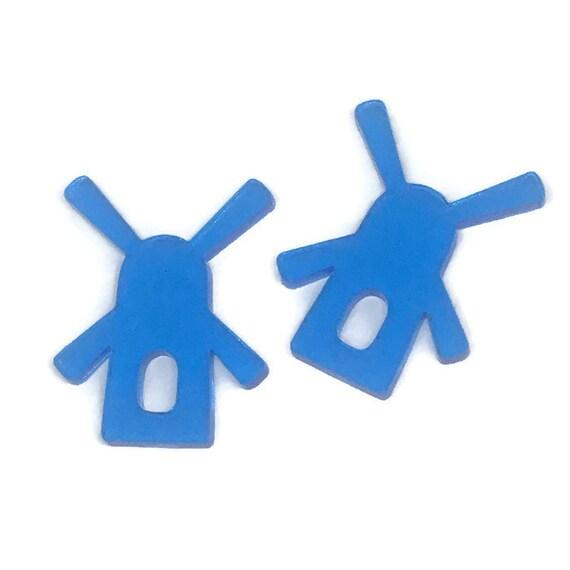 Acrylic Mini Shapes.8 Pieces. Windmill. Mini Laser Cut Supplies