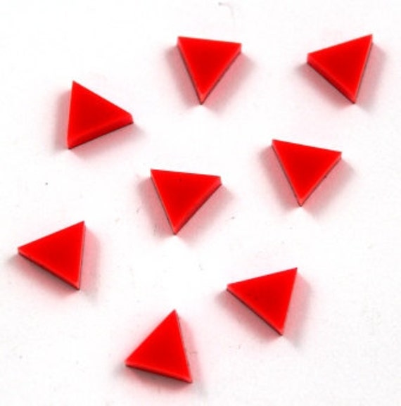 Wood & Acrylic Mini Shapes.8 Pieces. Triangle  Laser Cut Supplies