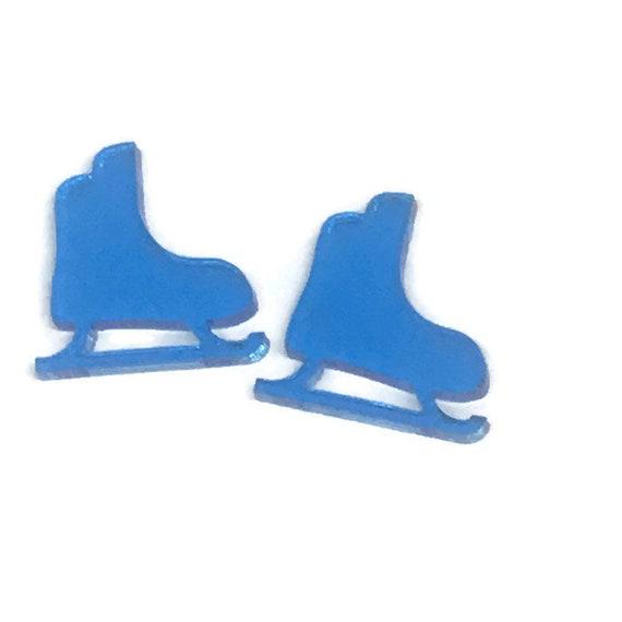 Acrylic Mini Shapes.8 Pieces. Ice Skate. Mini Laser Cut Supplies