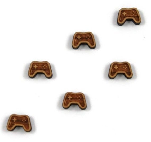 Wood & Acrylic Mini Shapes.8 Pieces.Game Controller  Laser Cut Supplies