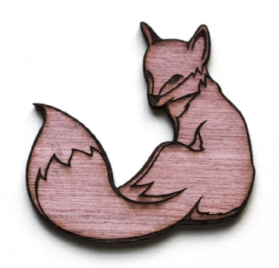 Laser Cut Supplies-1 Piece Mr Fox Charms-Acrylic and Wood Laser Cut -Jewellery Supplies- Little Laser Lab Wood and Acrylic Products