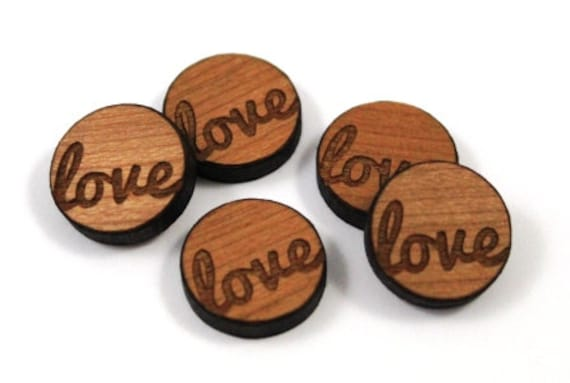 Wood & Acrylic Mini Shapes.8 Pieces.  Love Mini  Laser Cut Supplies