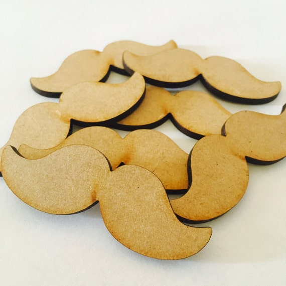 Lasercut Craft Wood Moustache.  Set of 2. 65mm -Acrylic and Wood Laser Cut-Jewellery Supplies-Little Laser Lab Wood and Acrylic Products