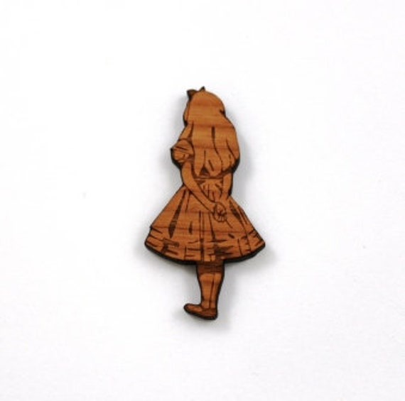 Laser Cut Supplies-1 Piece Alice in Wonderland Charms-Acrylic and Wood Laser Cut-Jewelry Supplies-Little Laser Lab Wood and Acrylic Products