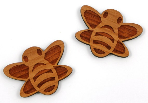 Laser Cut Supplies-1 Piece. Buzzy Bee Charms-Acrylic and Wood Laser Cut -Jewellery Supplies- Little Laser Lab Wood and Acrylic Products
