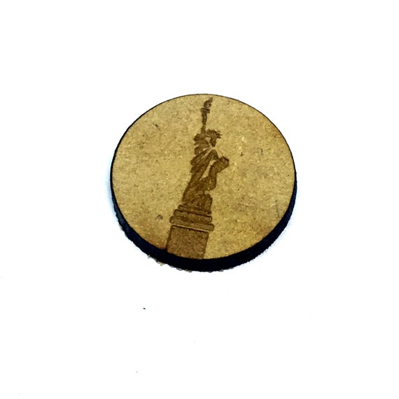 Wood & Acrylic Mini Shapes.8 Pieces.  Statue Of Liberty Mini  Laser Cut Supplies