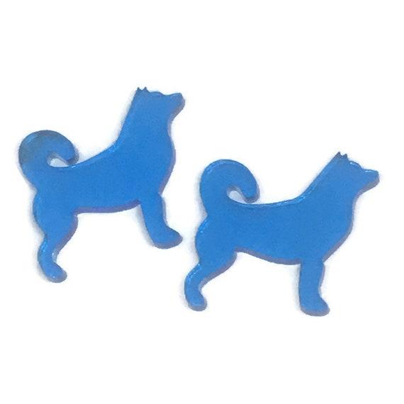 Acrylic Mini Shapes.8 Pieces. Husky Dog. Mini Laser Cut Supplies