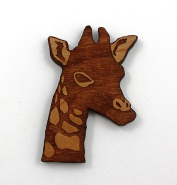 Wood And Acrylic Shapes. 1 Piece.Giraffe Charms. Laser Cut Wood And Acrylic