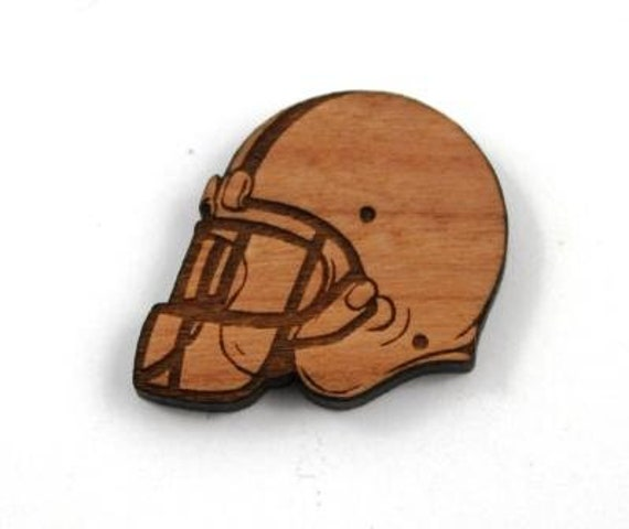 Laser Cut Supplies-1 Piece Football Helmet Charms-Acrylic and Wood Laser Cut-Jewelry Supplies-Little Laser Lab Wood and Acrylic Products