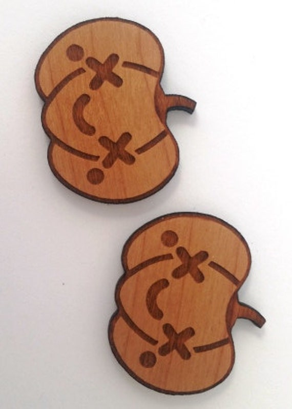 Wood And Acrylic Shapes. 1 Piece.Pumpkin Smile Charms. Laser Cut Wood And Acrylic