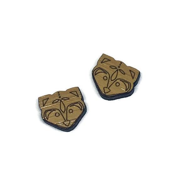 Bamboo Mini Shapes.8 Pieces.Folk Art Fox. Laser Cut Supplies