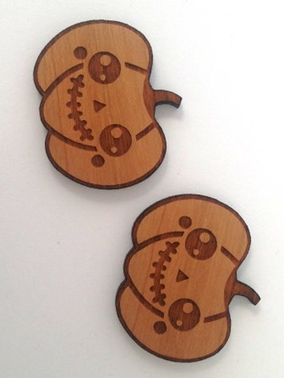 Wood And Acrylic Shapes. 1 Piece. Pumpkin Charms. Laser Cut Wood And Acrylic