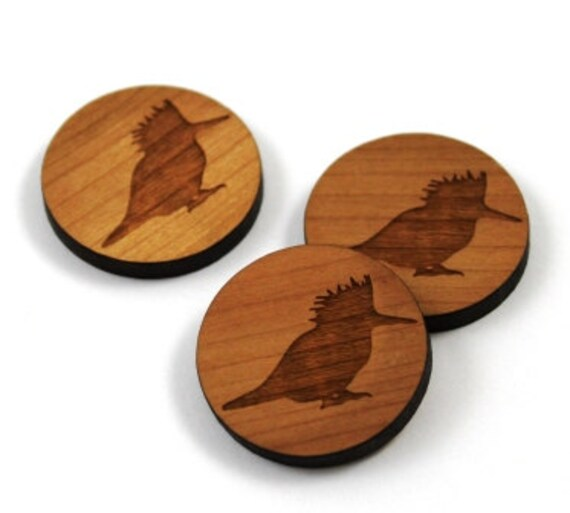 Wood & Acrylic Mini Shapes.8 Pieces. Kingfisher  Laser Cut Supplies