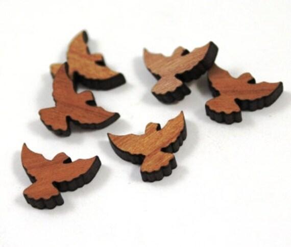 Wood & Acrylic Mini Shapes.8 Pieces.Bird  Laser Cut Supplies