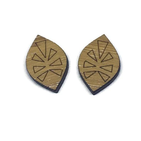 Bamboo Mini Shapes.8 Pieces.Folk Art Leaf. Laser Cut Supplies