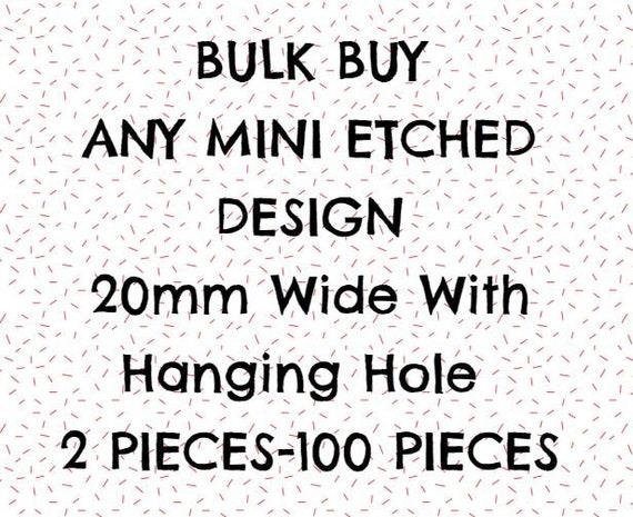Bulk Buy. Wood & Acrylic Mini Shapes.2 Pieces-100 pieces.20mm.Laser Cut Supplies
