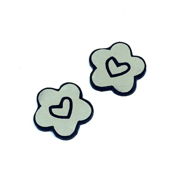 Wood & Acrylic Mini Shapes.8 Pieces. Heart Cloud. Mini Laser Cut Supplies