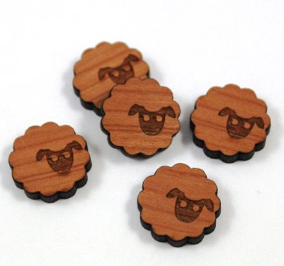 Wood & Acrylic Mini Shapes.8 Pieces.Sheep  Laser Cut Supplies