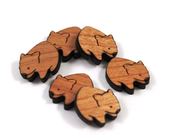 Wood & Acrylic Mini Shapes.8 Pieces.Wombat  Laser Cut Supplies