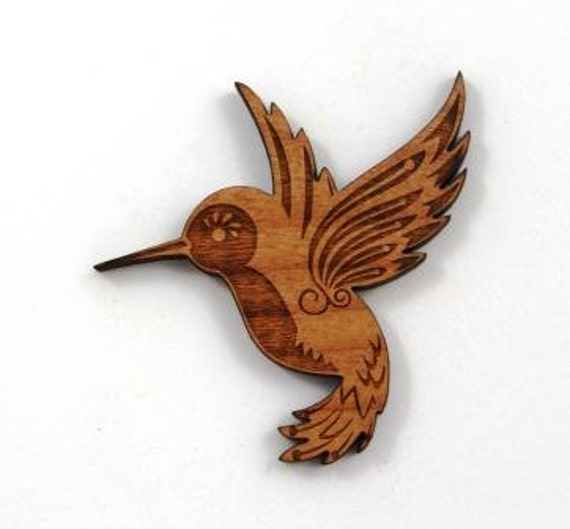 Laser Cut Supplies- 1 Piece.Humming Bird Charms-Acrylic and Wood Laser Cut -Jewellery Supplies- Little Laser Lab Wood and Acrylic Products