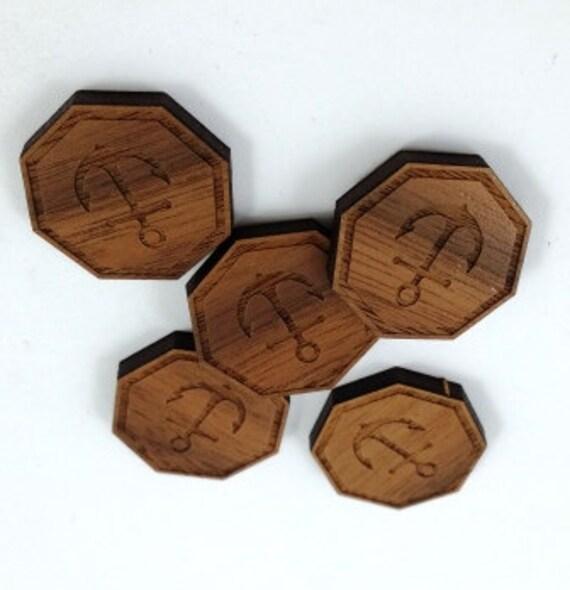 Wood & Acrylic Mini Shapes.8 Pieces. Anchor  Laser Cut Supplies