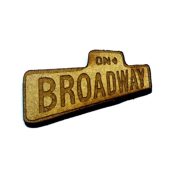 Wood & Acrylic Mini Shapes.8 Pieces.  Broadway Sign Mini  Laser Cut Supplies