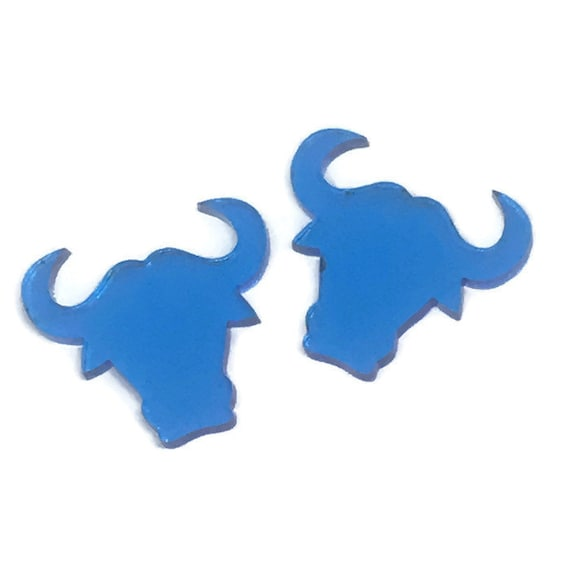 Acrylic Mini Shapes.8 Pieces. Bull. Mini Laser Cut Supplies