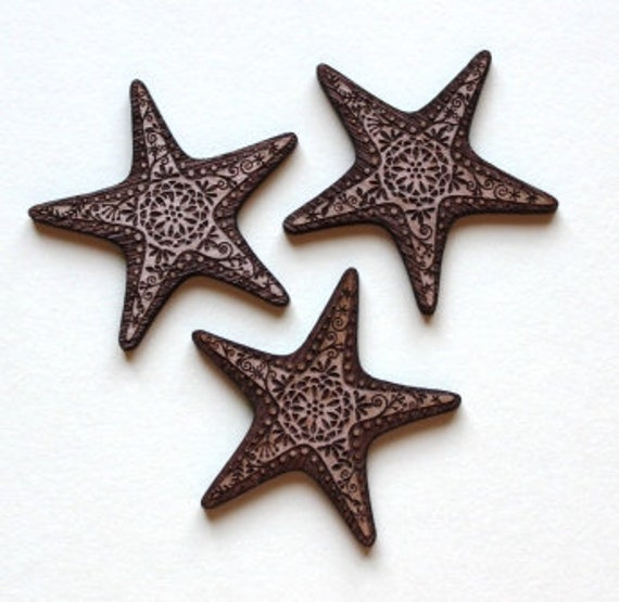 Laser Cut Supplies-1 Piece Star Fish Charms-Acrylic and Wood Laser Cut -Jewellery Supplies- Little Laser Lab Wood and Acrylic Products