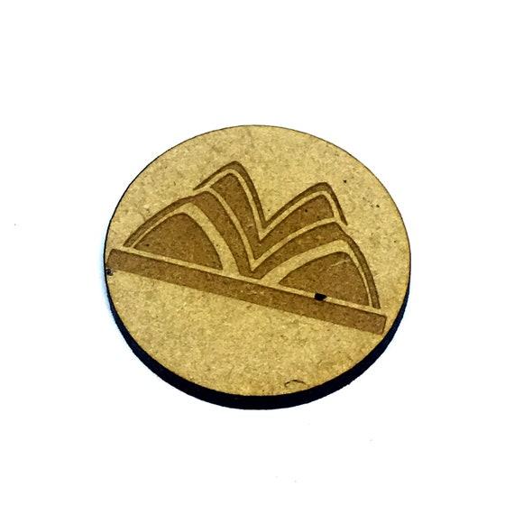Wood & Acrylic Mini Shapes.8 Pieces.  Sydney Opera House Mini  Laser Cut Supplies