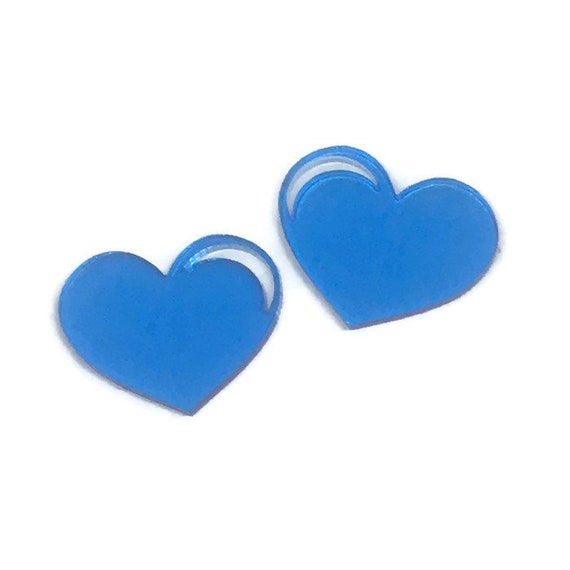 Acrylic Mini Shapes.8 Pieces. Detail Heart. Mini Laser Cut Supplies