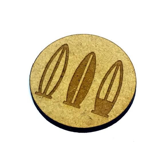 Wood & Acrylic Mini Shapes.8 Pieces.  Surf Board Mini  Laser Cut Supplies