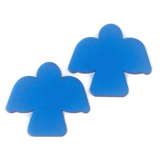 Acrylic Mini Shapes.8 Pieces. Angel. Mini Laser Cut Supplies