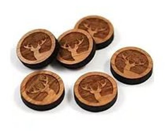 Laser Cut Jewelry Supplies.8 Pieces.Elk Charms