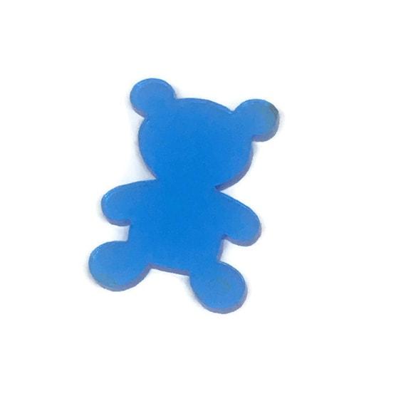 Acrylic Mini Shapes.8 Pieces. Teddy Bear. Mini Laser Cut Supplies