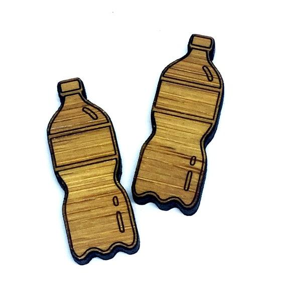 Bamboo Mini Shapes.8 Pieces. Bottle. Laser Cut Supplies