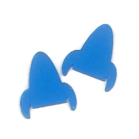 Acrylic Mini Shapes.8 Pieces. Little Rocket Ship. Mini Laser Cut Supplies